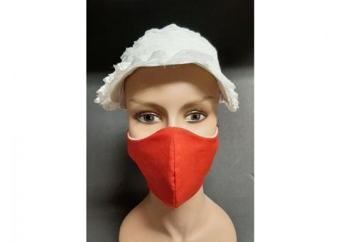red style 2 the best 4 layer coronavirus n95 face mask handmade 100% cotton