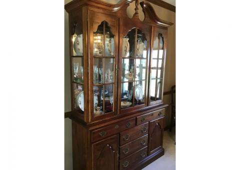 Cherry Dining Room Table, Hutch, Buffet & Chairs