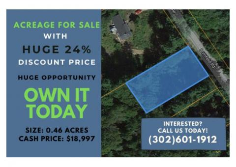 0.46-Acre Lot in Holland, MA Get it For Huge Discount Price of $18,997!